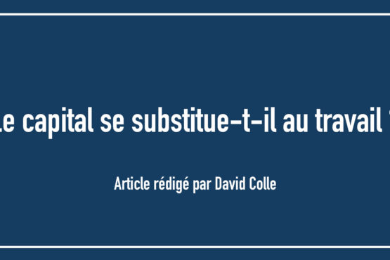 Le capital se substitue-t-il au travail ?