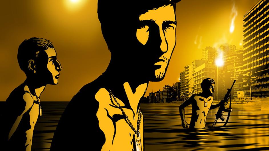 Illustration du dessin animé Valse avec Bachir, 2008. Une nouveauté: un «dessin animé esthétique documentaire». Il porte sur des événements tragiques lors de la guerre du Liban.